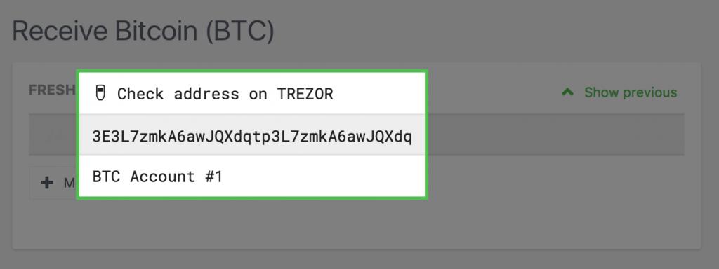 check bitcoin address