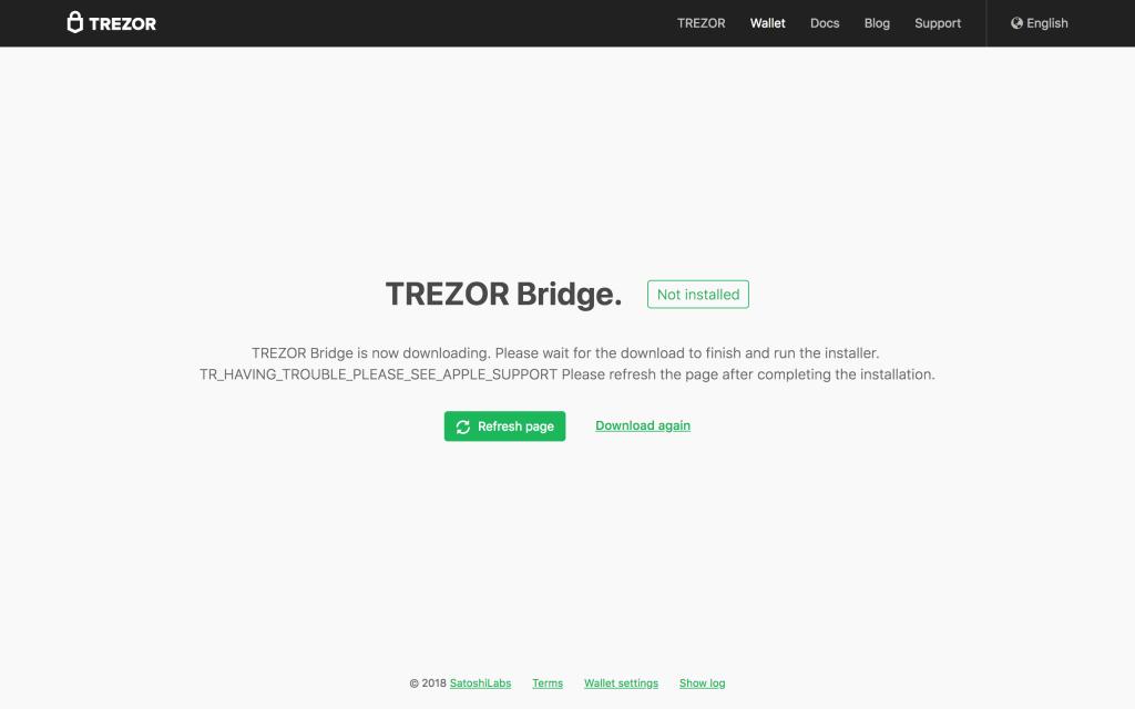 trezor bridge bitcoin