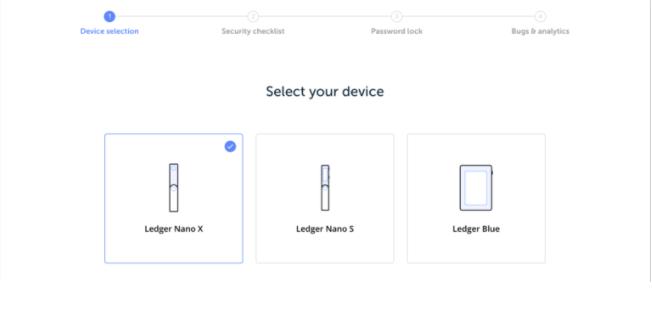 select nano ledger x